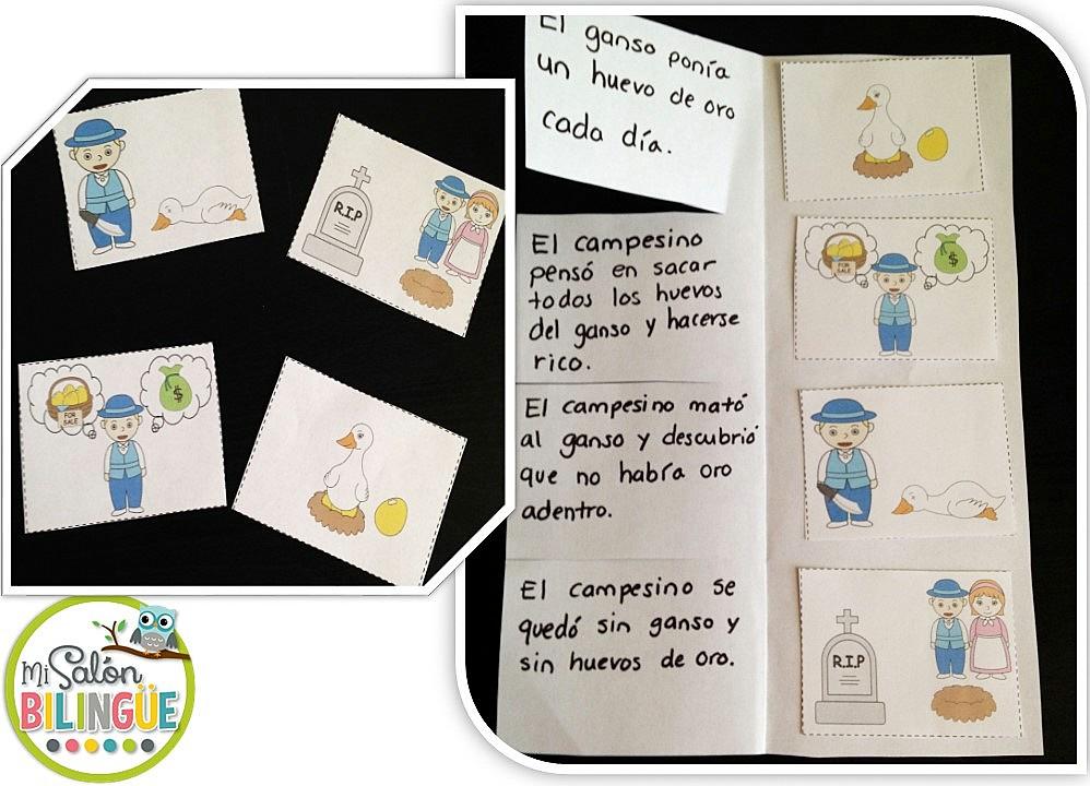 Mi Salón Bilingüe 4 Fábulas Con Con Actividades De Lectoescritura