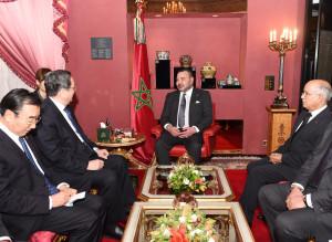 Mohamed 6 en visite en Chine
