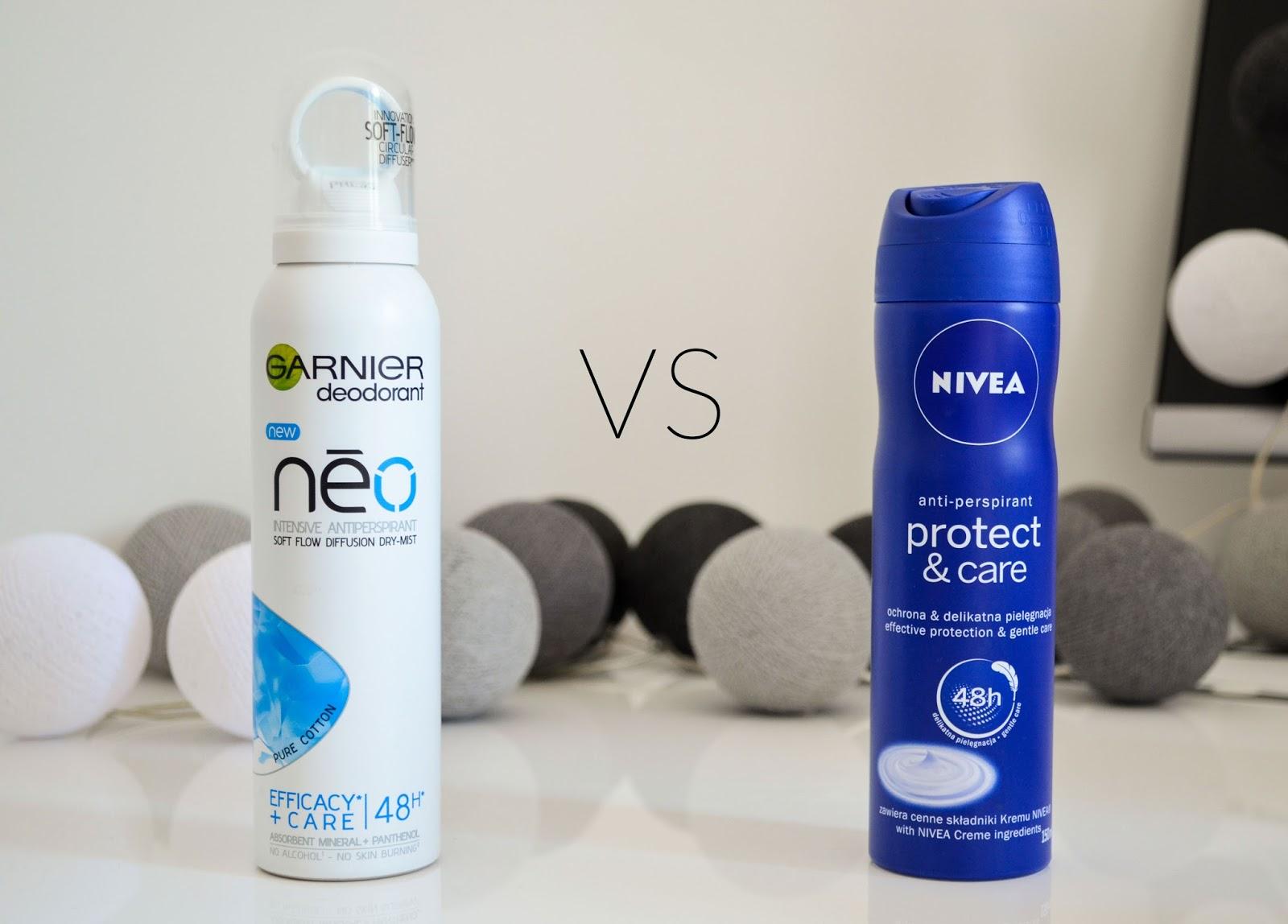 Nivea Protectcare Vs Garnier Neo Dry Mist Porównanie