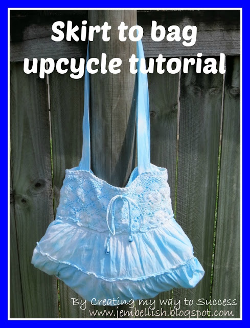 Skirt to Bag Upcycle Tutorial