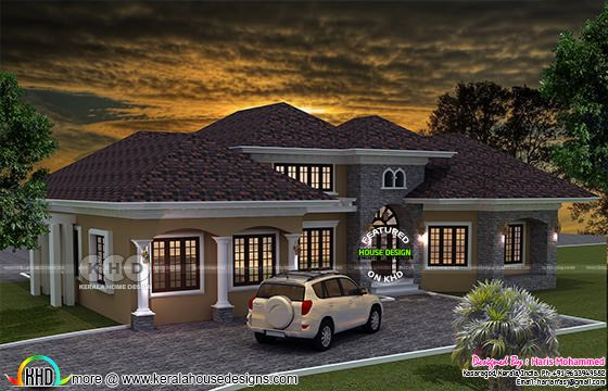 3093 square feet sloped roof bungalow