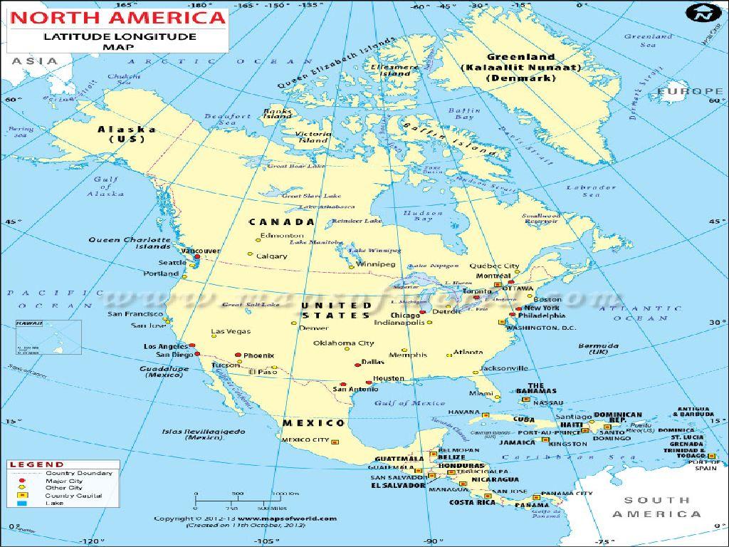 latitude and longitude map of the united states
