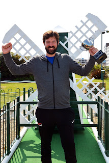 Marc 'The Force' Chapman - the new World Crazy Golf Champion. Photo by Hastings Adventure Golf