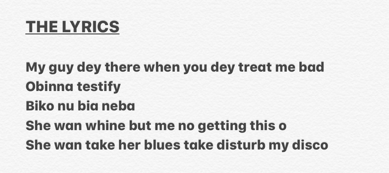 Lyric blues songs lyrics : Lyrics Contest:- In Which Song Did Olamide Used This Lyrics?