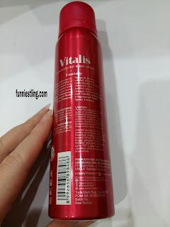 tampak belakang vitalis fragranced body spray glamorous fantasy