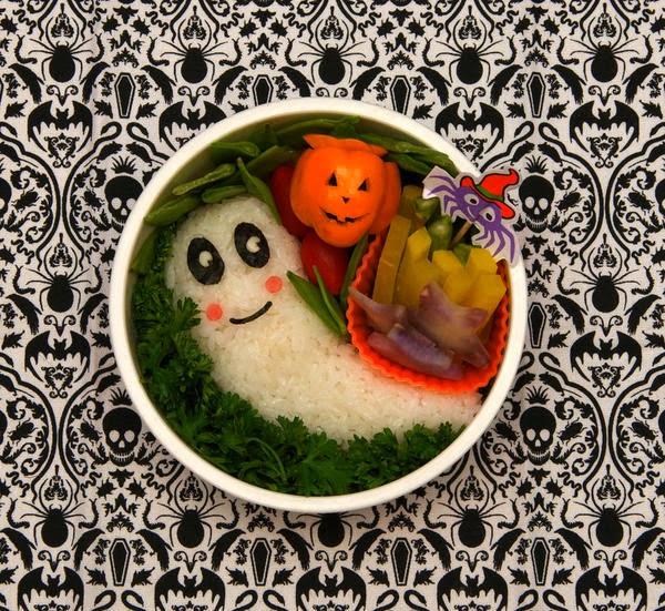 street food cuisine du monde recette de bento sp cial halloween plat emporter au riz et. Black Bedroom Furniture Sets. Home Design Ideas