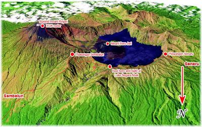 Map of Mount Rinjani