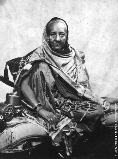 Begum Zenat Mahat Wife Of The Shah Or King Delhi Exiled To Rangoon After Indian Mutiny Against British Rule 1857 Photo By Felice Beato Getty