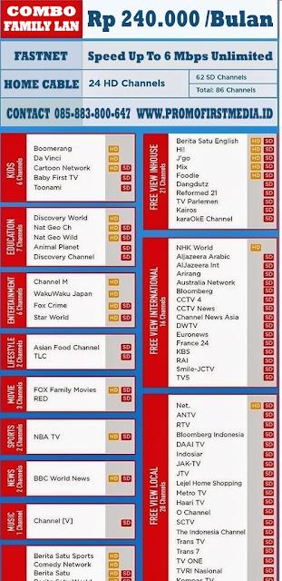 PROMO FIRST MEDIA PAKET COMBO FAMILY HD LAN
