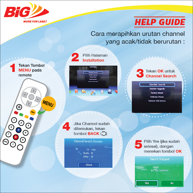 Cara Merapihkan Urutan Channel Big TV