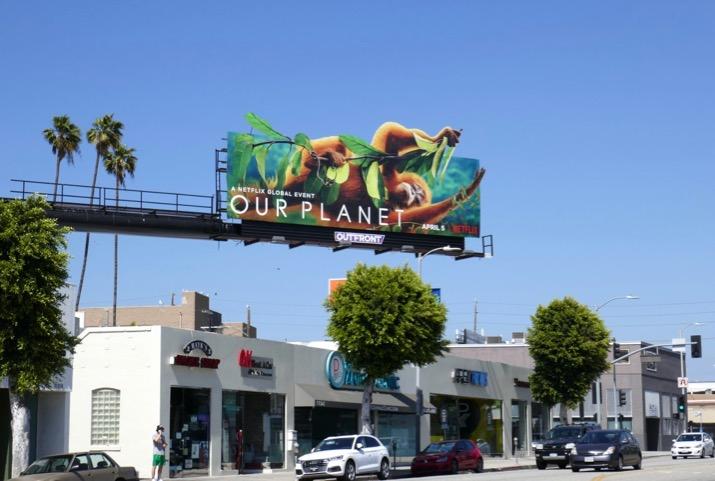 Our Planet Orangutan extension billboard