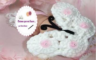 Borboleta para foto de Newborn feito em crochê