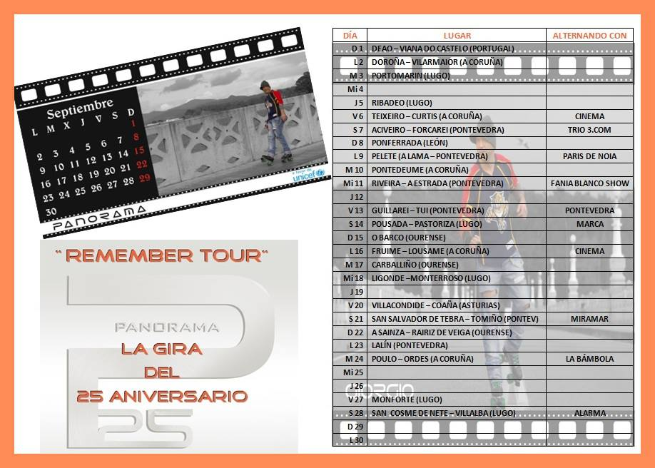 Orquesta Panorama Calendario.Orquestas Y Fiestas Ya Tenemos Disponibles Las Fechas De Septiembre