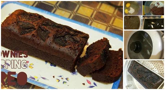 Resep Cake Kukus Simple: Resep Membuat Brownies Kukus Simple,Dengen Toping Oreo