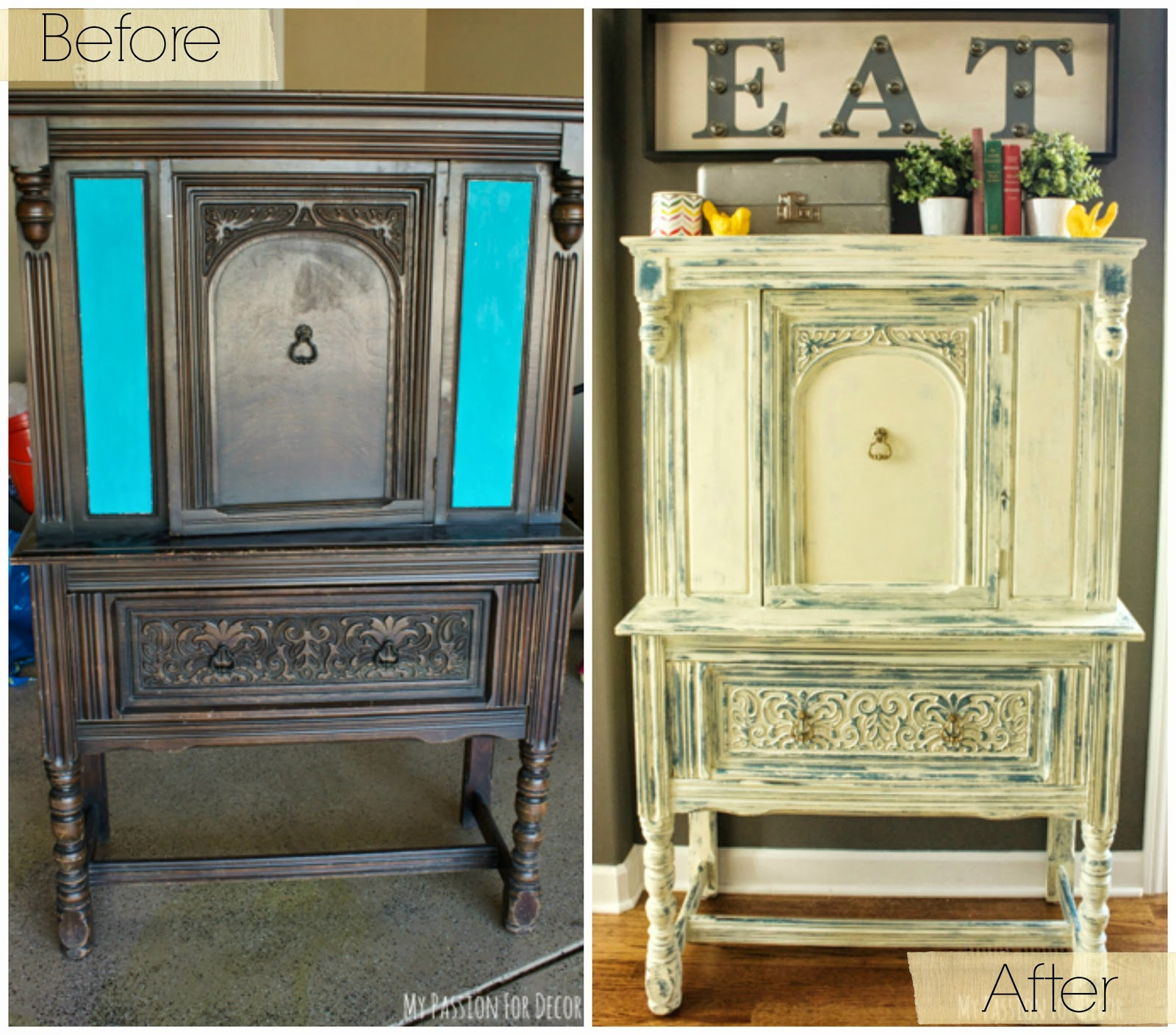 Chalk Paint Used On Kitchen Cabinets: My Passion For Decor: Cabinet Makeover Using Chalk Paint