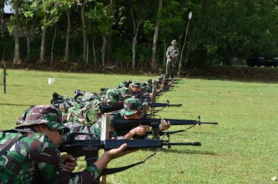 Korem 141/Tp Optimalkan Kemampuan Prajuritnya Lewat Latihan Menembak