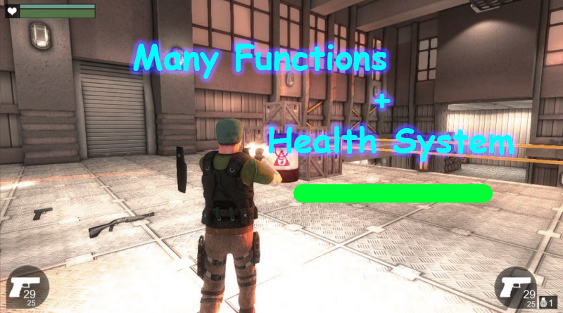 Unity 3d make Third Person Character Like health,hunger and