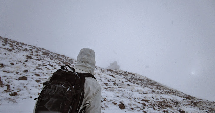 Colorado Mines Peak during a whiteout