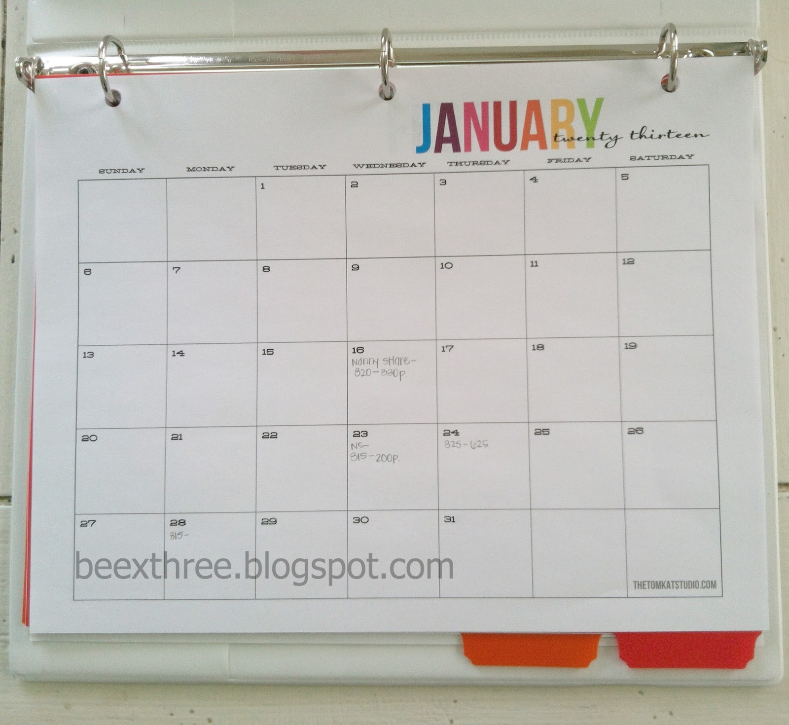 Three B's: Updated Daily Log Binder; Infant & Toddler