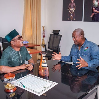 RECESSION: Osuofia Visits Ghana President Mahama, Says He Should Be Retained  Osuofia-visits-ghana-president
