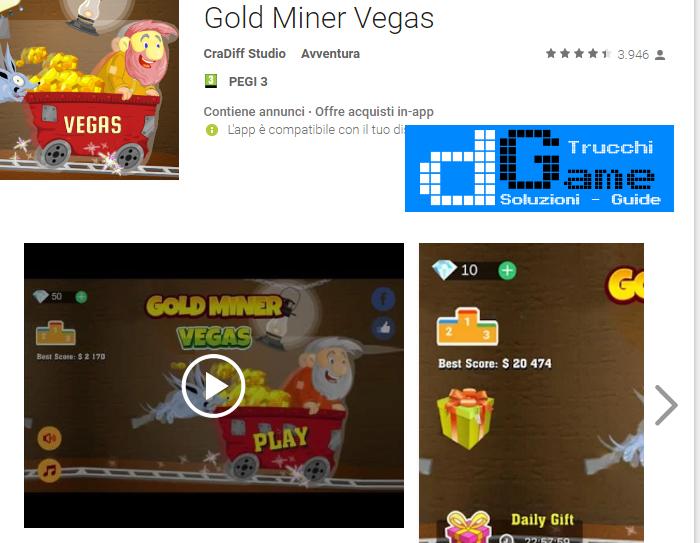 Trucchi Gold Miner Vegas HD Mod Apk Android v2.0
