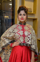 Anya South Actress model in Red Anarkali Dress at Splurge   Divalicious curtain raiser ~ Exclusive Celebrities Galleries 002.JPG