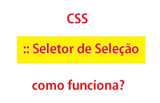 CSS :: Seletor de Seleção, como funciona?