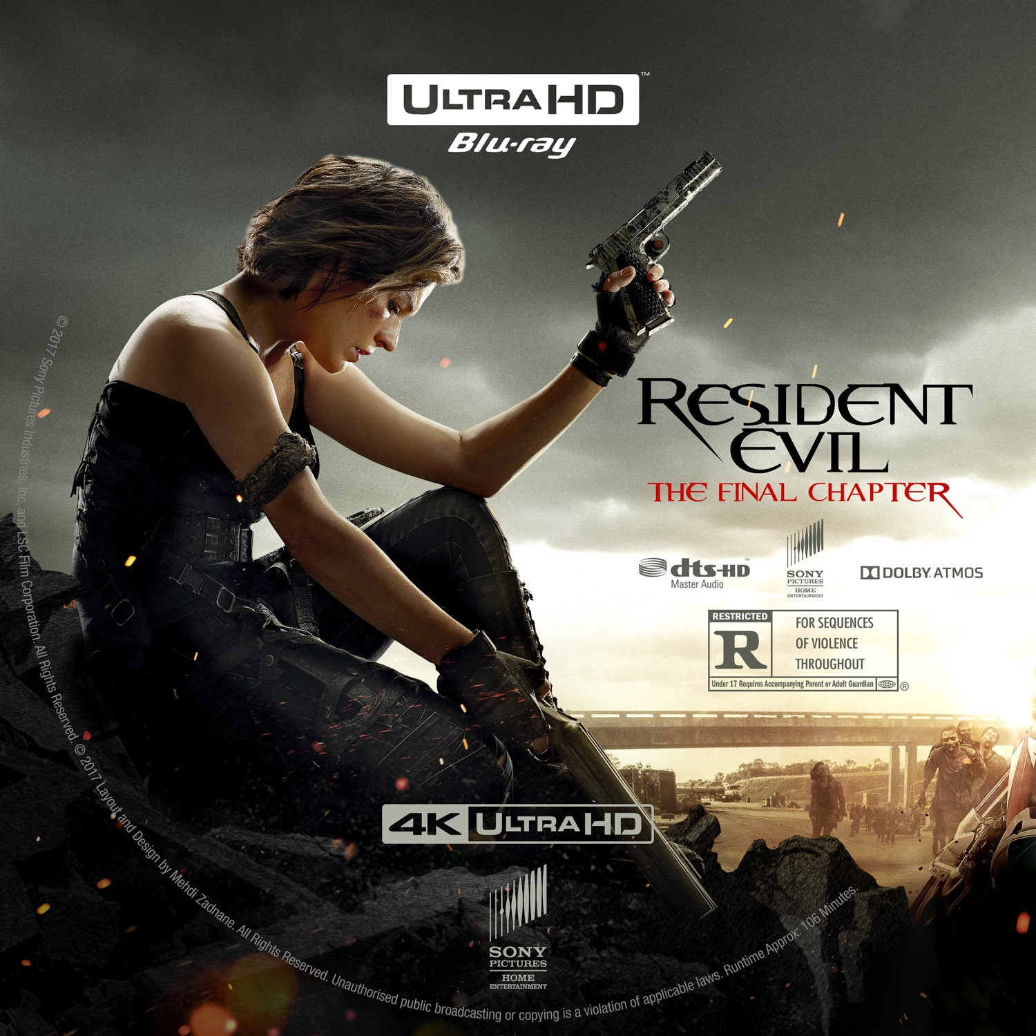 Resident Evil The Final Chapter Bluray 4k UltraHD Label