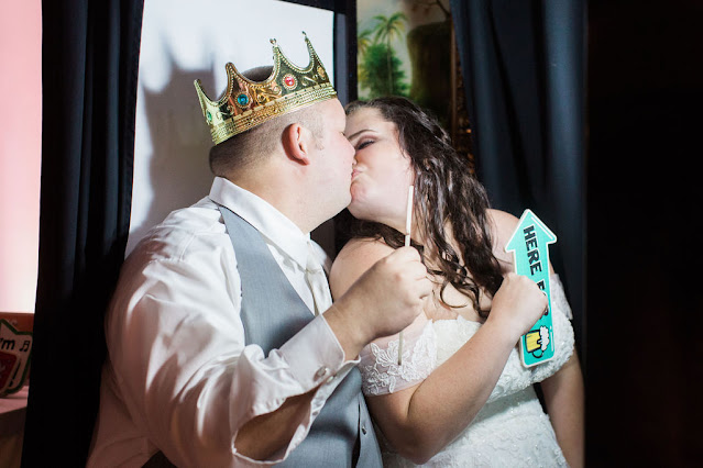 Bride and groom photo booth photo