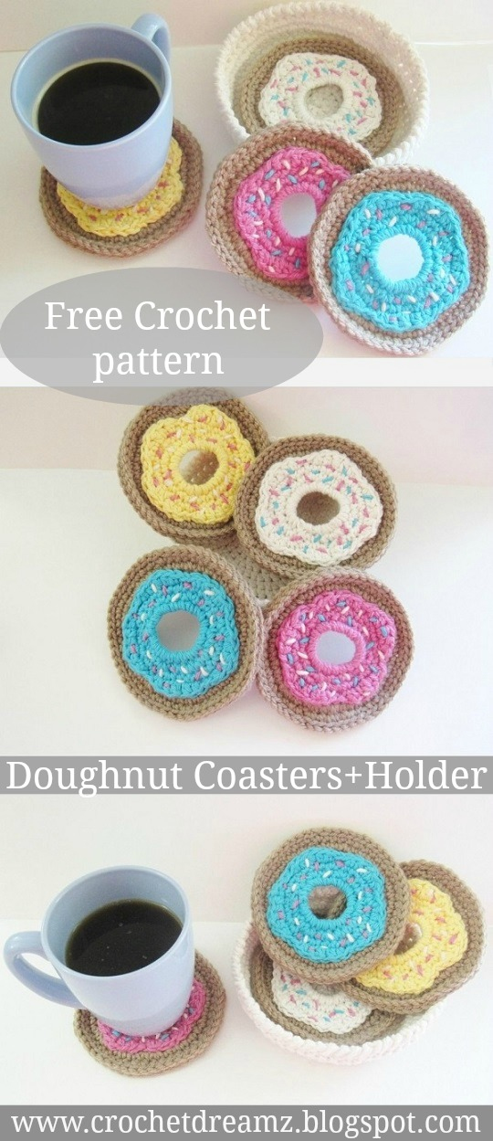 Doughnut Coasters Crochet Pattern