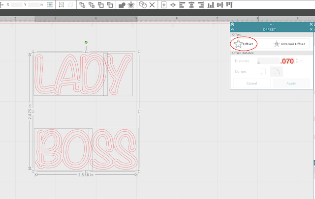 silhouette studio tutorials, offset tool, silhouette cameo text tool