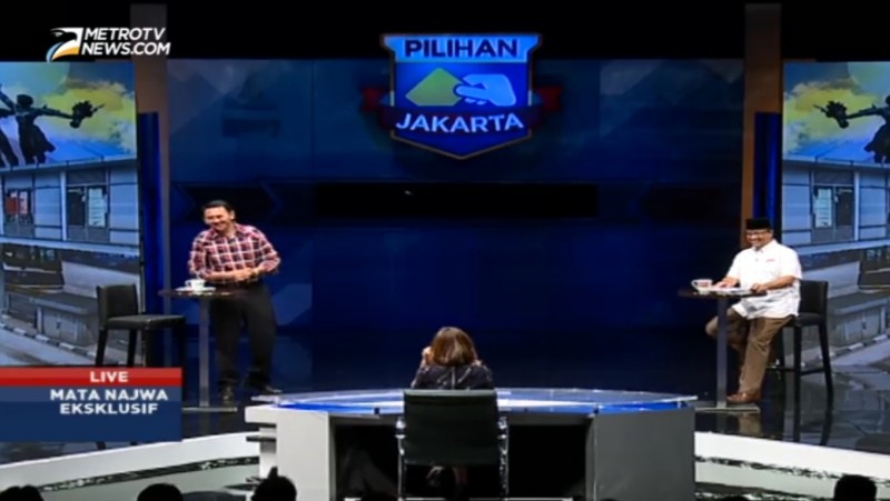 Babak Final Pilkada Jakarta di program Mata Najwa, Metro TV