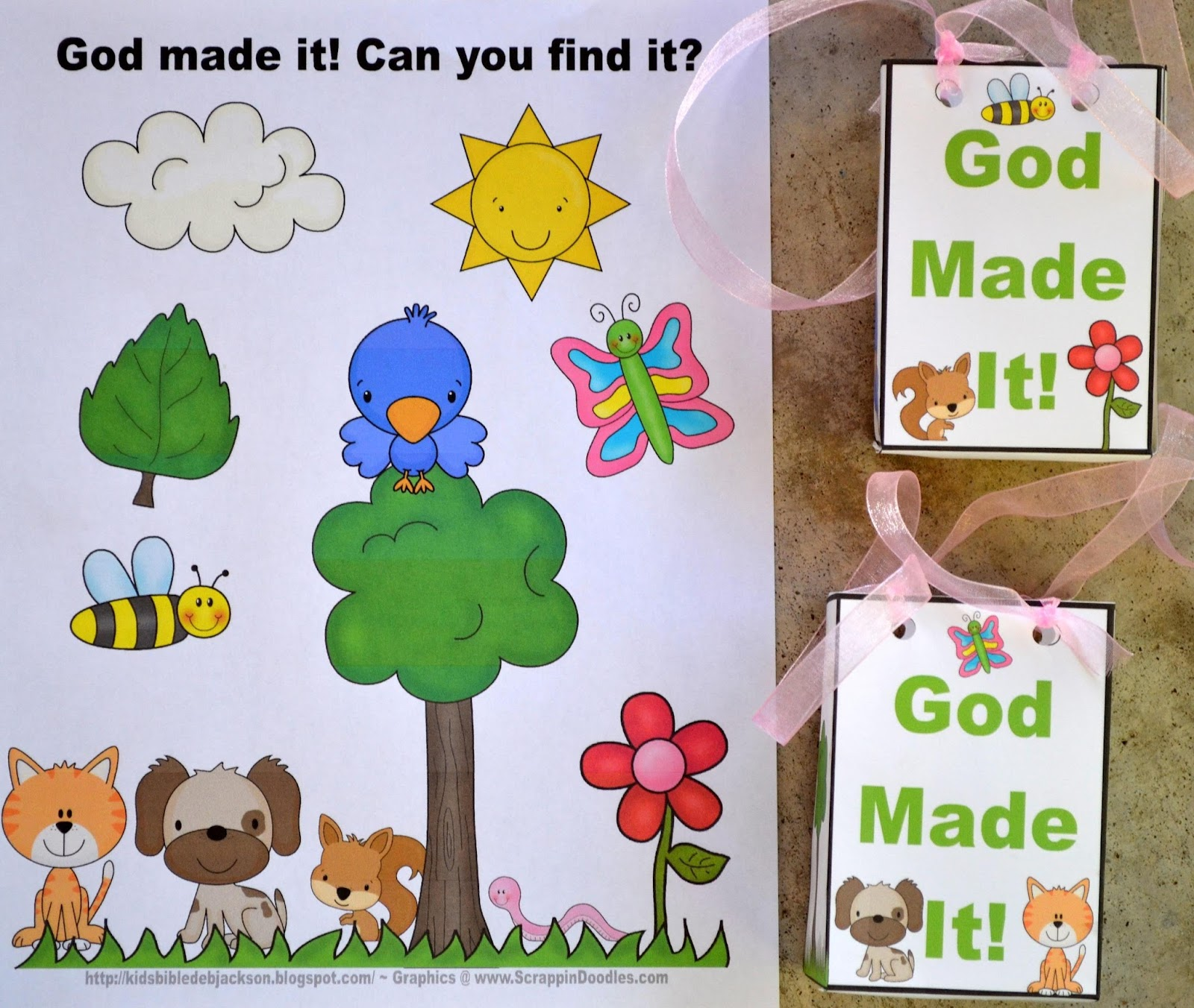 Bible Fun For Kids God Made It Outside Checklist