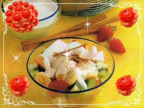 Macedonia con salsa de miel