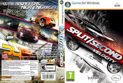 Jogo Split Second Velocity PC DVD Capa