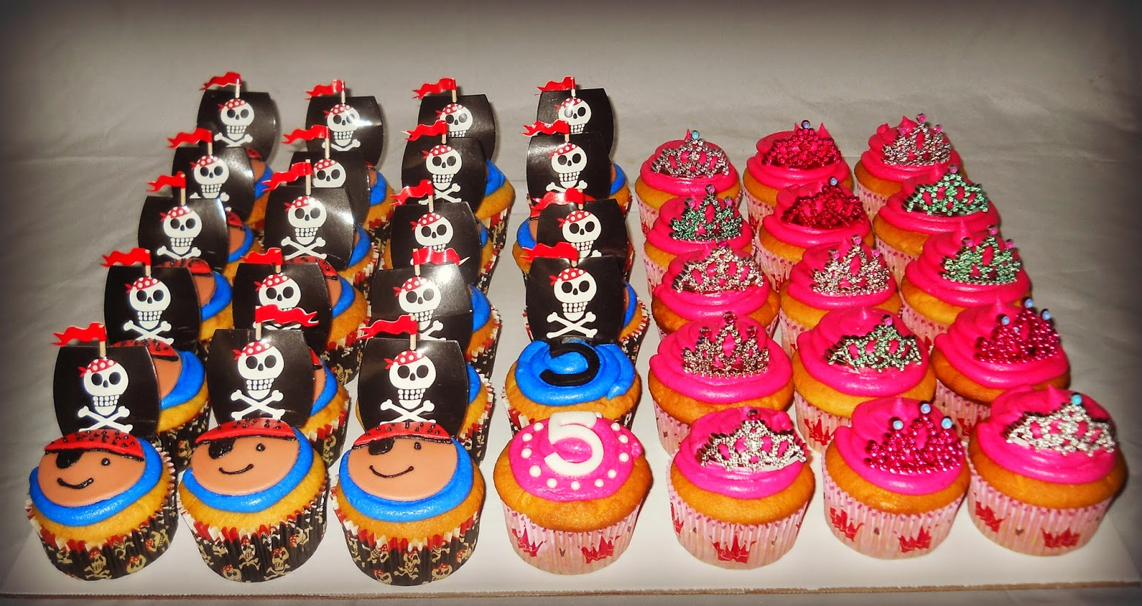 Pirate And Princess Birthday Cupcakes