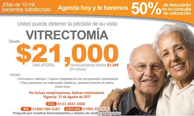 Cirugía de ojos Vitrectomia. Desprendimiento de retina Guadalajara