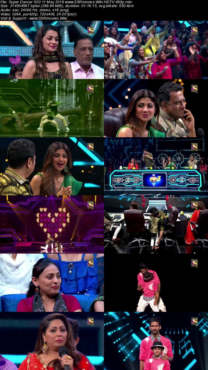 Super Dancer S03 11 May 2019 HDTV 480p Full Show Download