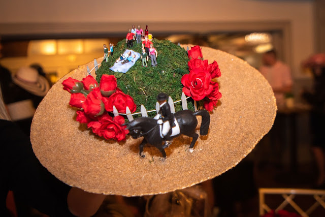 horse racing, betting booth, fundraisers, soiree, hats