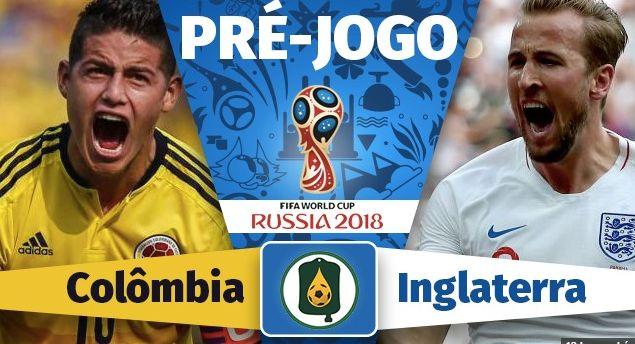 Assistir Jogo COLÔMBIA X INGLATERRA AO VIVO pela Copa da Rússia