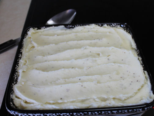 Mashed Potatoes Top the Shepherd's Pie