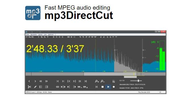تحميل برنامج تقطيع الملفات الصوتية Mp3DirectCut مجانا