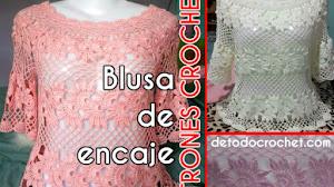 Patrones de blusa de encaje para tejer con crochet