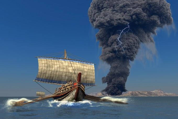 Η έκρηξη του ηφαιστείου της Θήρας εκατοντάδες χρόνια πριν από τον Τρωικό Πόλεμο