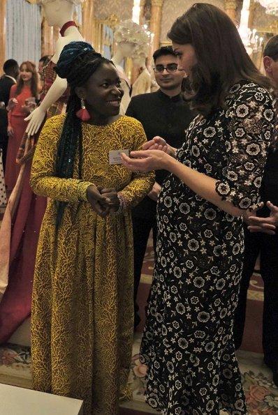 Kate Middleton wore Erdem Suzi Lace Dress, Countess Sophie wore Burberry Short Sleeve V-Neck Midi Dress, Prada pumps