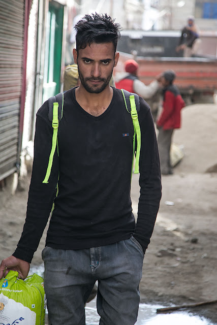 kashmiri man walking