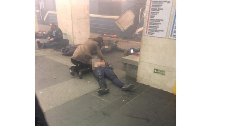 Las imágenes del horror en el metro de San Petersburgo tras explosión