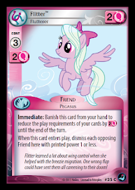 My Little Pony Flitter, Flutterer High Magic CCG Card