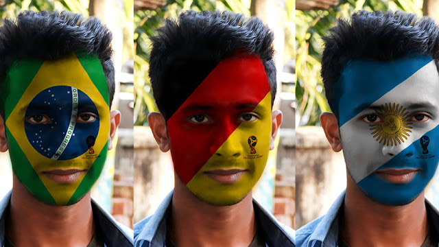 paint-flag-face Paint Favorite Team's Flag in Face - Photoshop Tutorial download