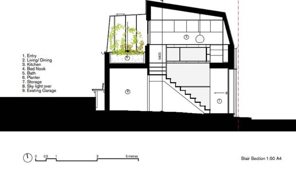 06-Section-Through-the-House-and-Garden-M-W-Architects-Sustainable-Architecture-with-the-Garage-Top-Studio-www-designstack-co